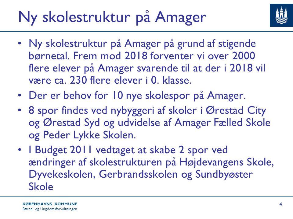 Ny skolestruktur på Amager
