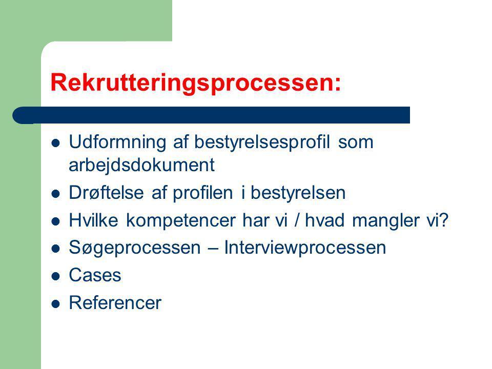 Rekrutteringsprocessen: