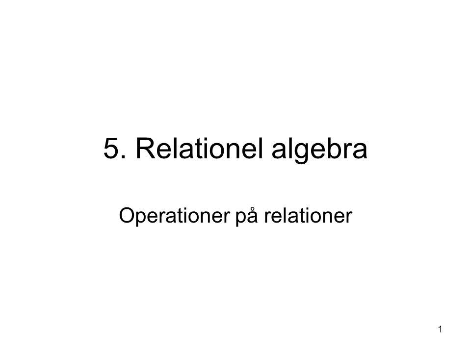 Operationer på relationer