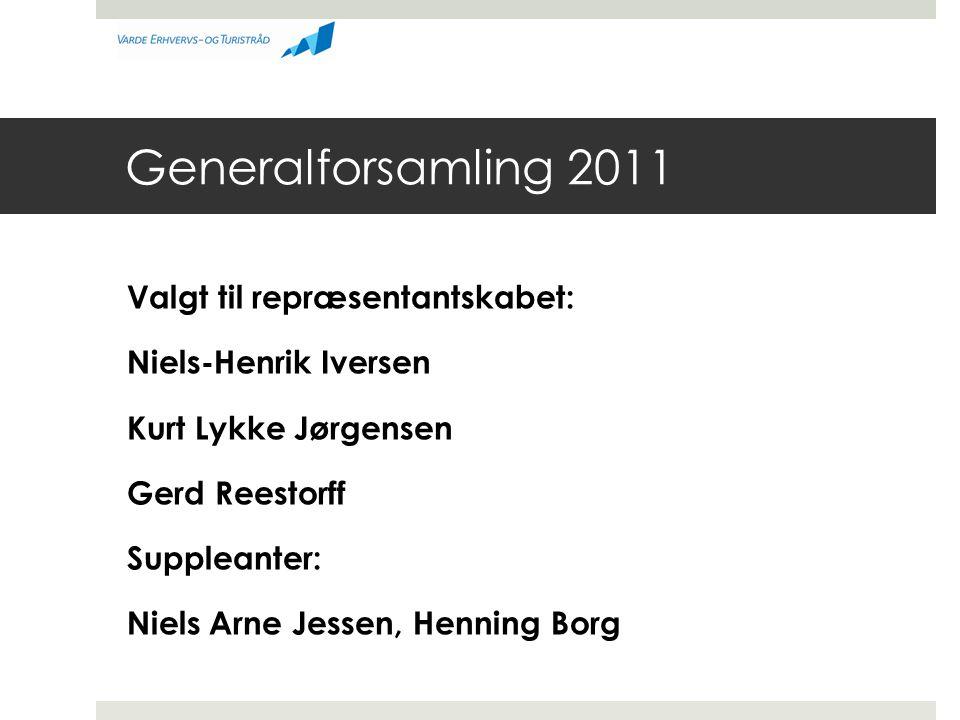 Generalforsamling 2011 Valgt til repræsentantskabet: