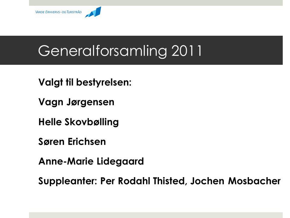 Generalforsamling 2011 Valgt til bestyrelsen: Vagn Jørgensen
