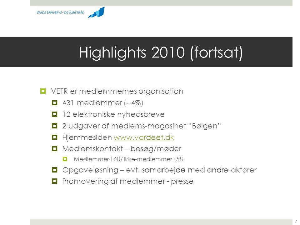 Highlights 2010 (fortsat) VETR er medlemmernes organisation