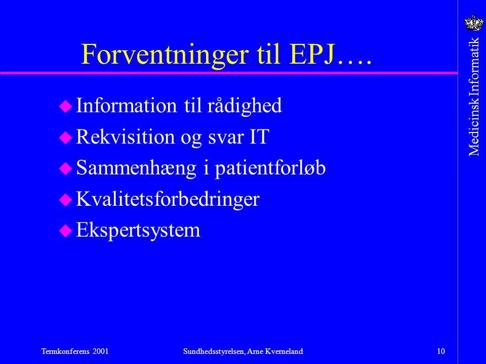 Forventninger til EPJ….