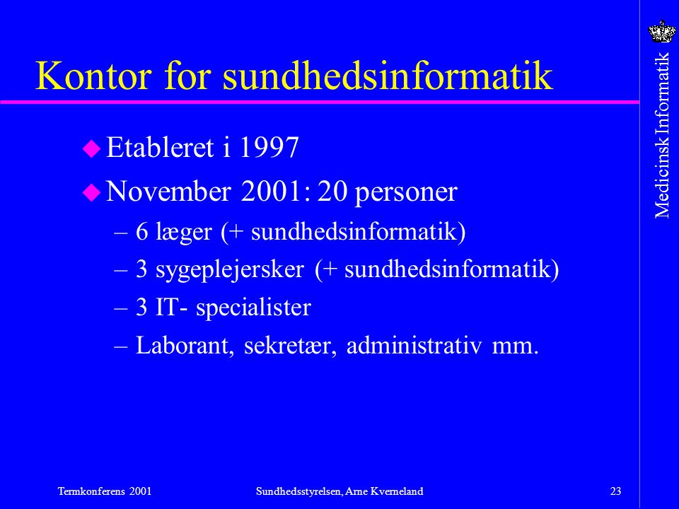 Kontor for sundhedsinformatik