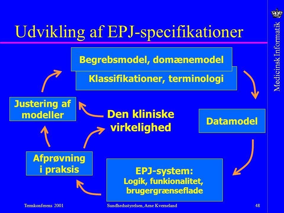 Udvikling af EPJ-specifikationer