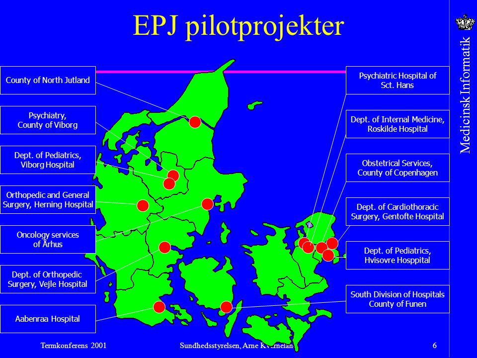 EPJ pilotprojekter County of North Jutland Psychiatric Hospital of