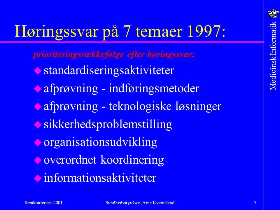 Høringssvar på 7 temaer 1997: