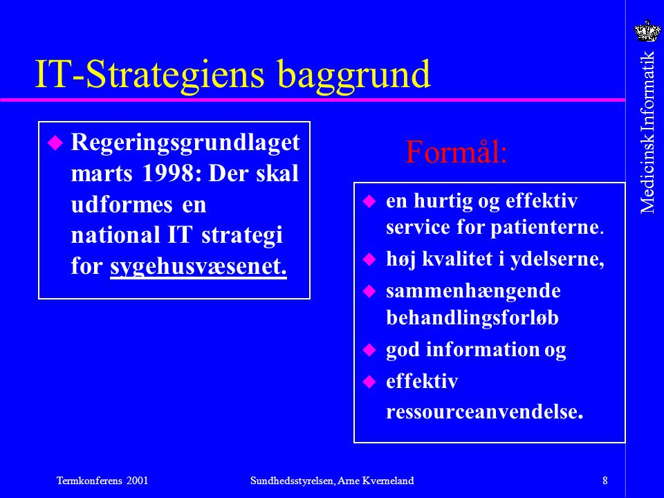 IT-Strategiens baggrund