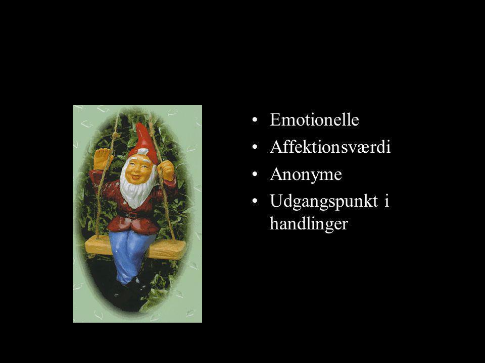Emotionelle Affektionsværdi Anonyme Udgangspunkt i handlinger