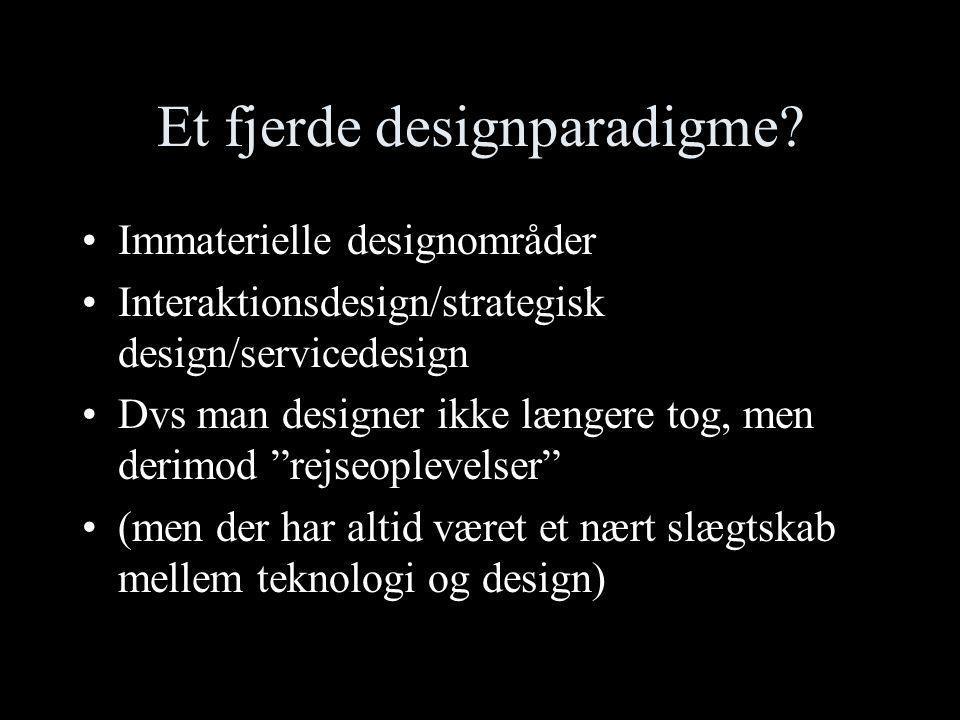 Et fjerde designparadigme