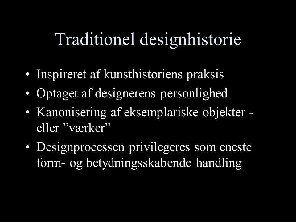 Traditionel designhistorie