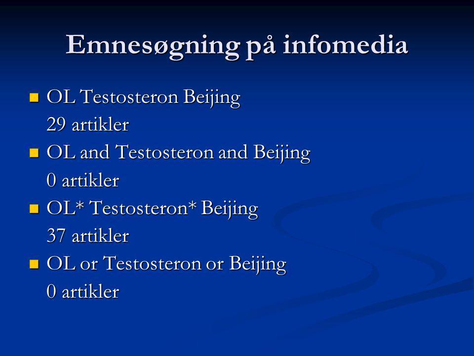 Emnesøgning på infomedia