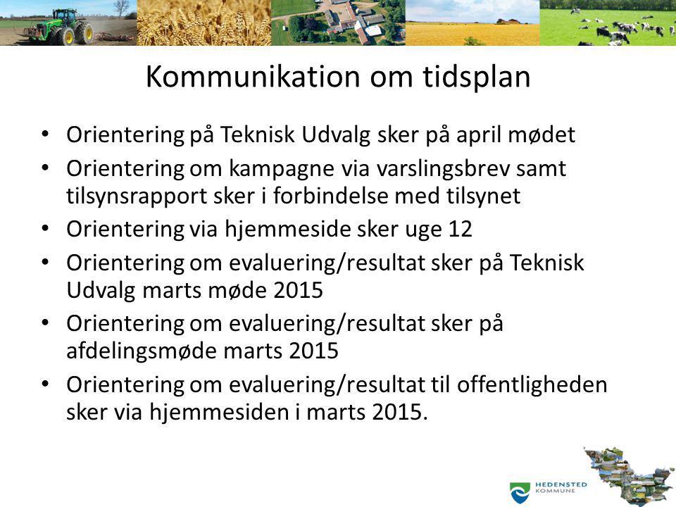 Kommunikation om tidsplan