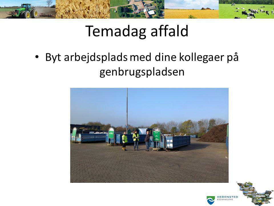 Byt arbejdsplads med dine kollegaer på genbrugspladsen