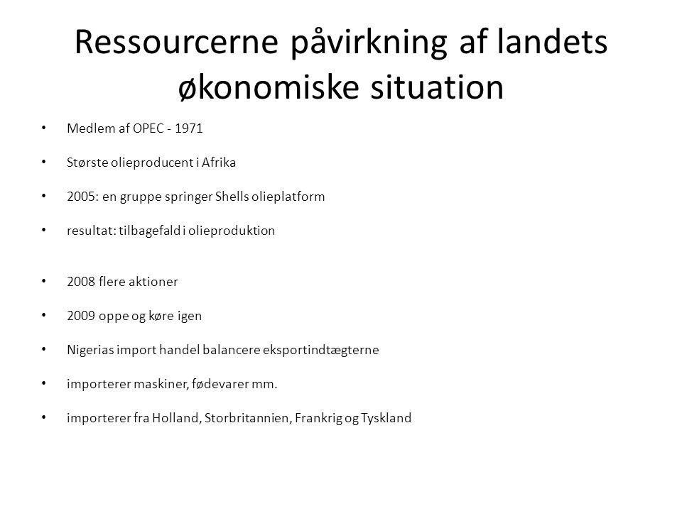 Ressourcerne påvirkning af landets økonomiske situation