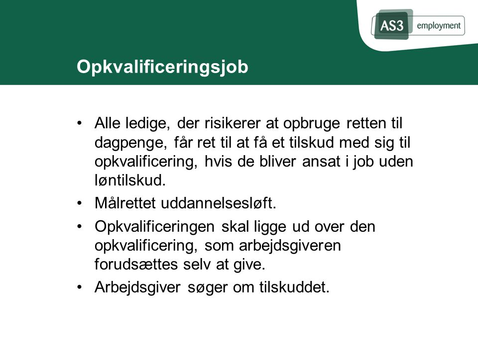 Opkvalificeringsjob