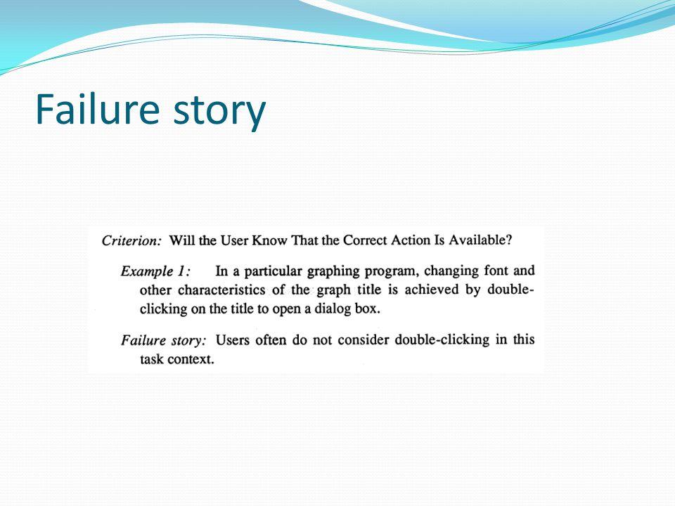 Failure story