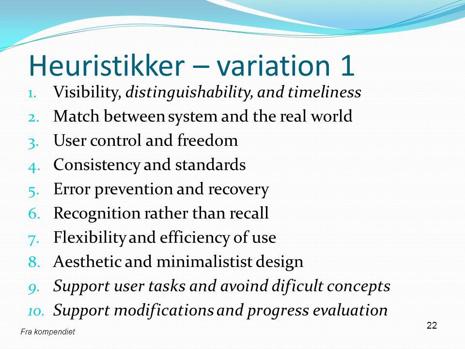 Heuristikker – variation 1