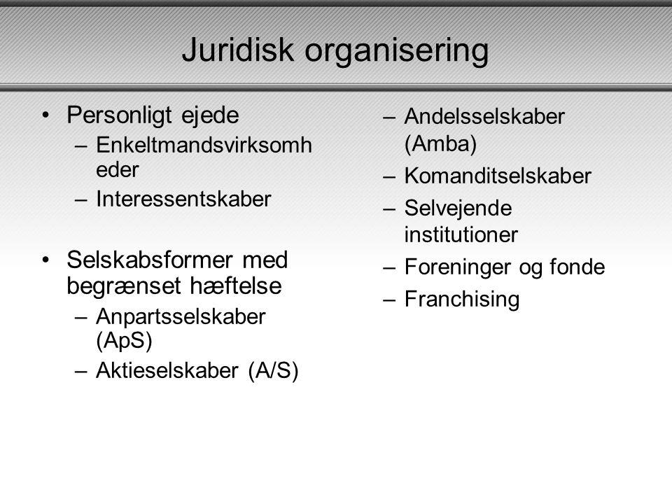 Juridisk organisering