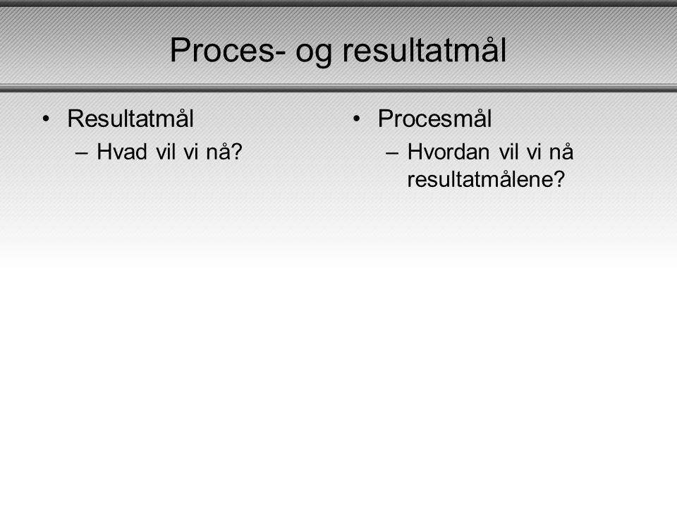 Proces- og resultatmål