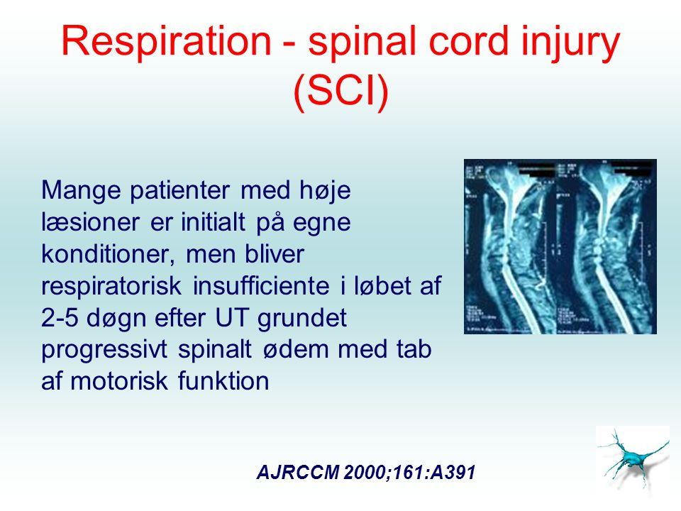 Respiration - spinal cord injury (SCI)