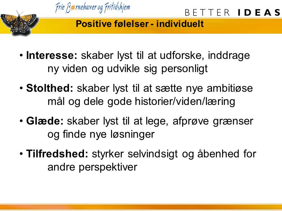 Positive følelser - individuelt