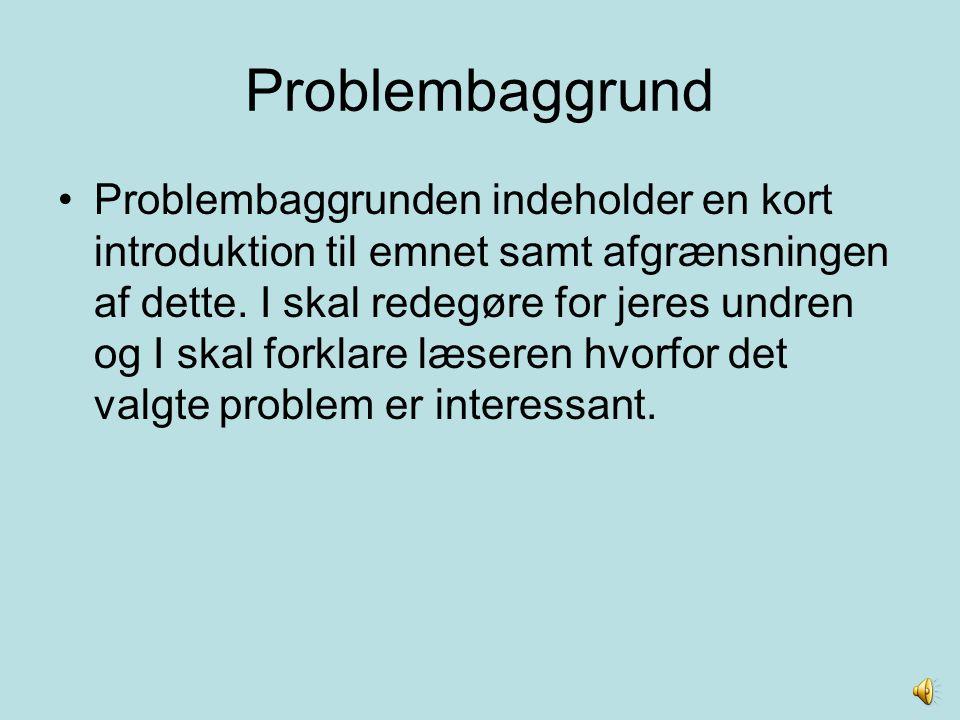 Problembaggrund
