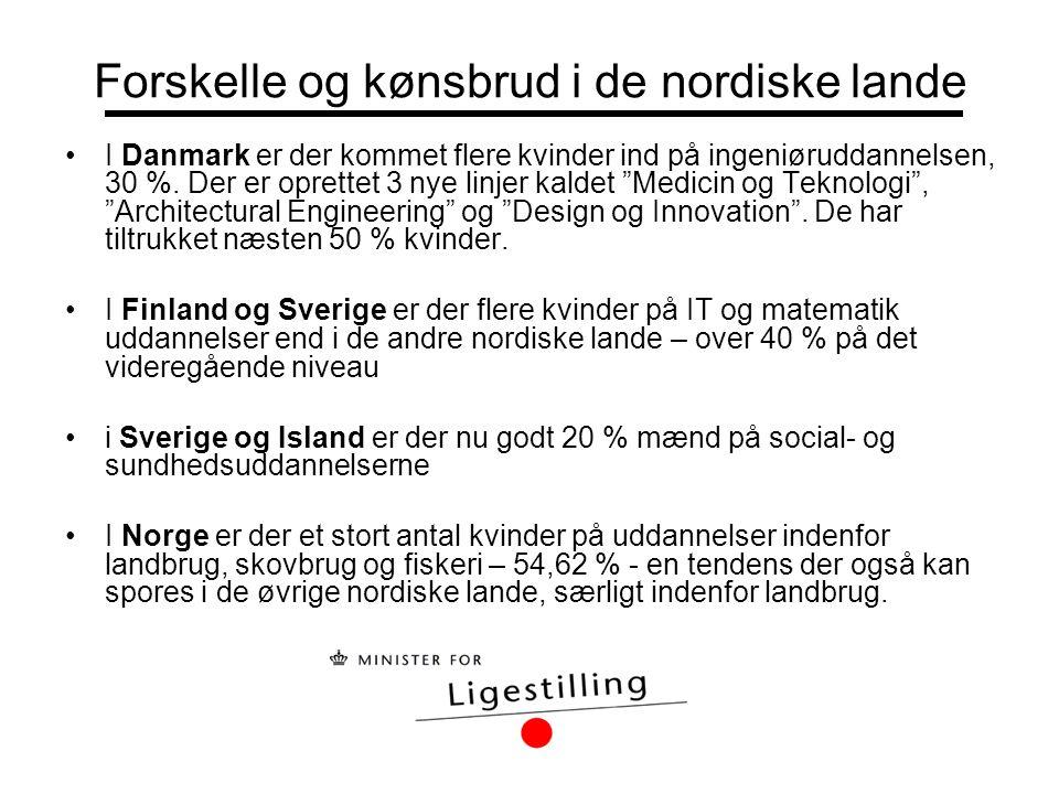Forskelle og kønsbrud i de nordiske lande