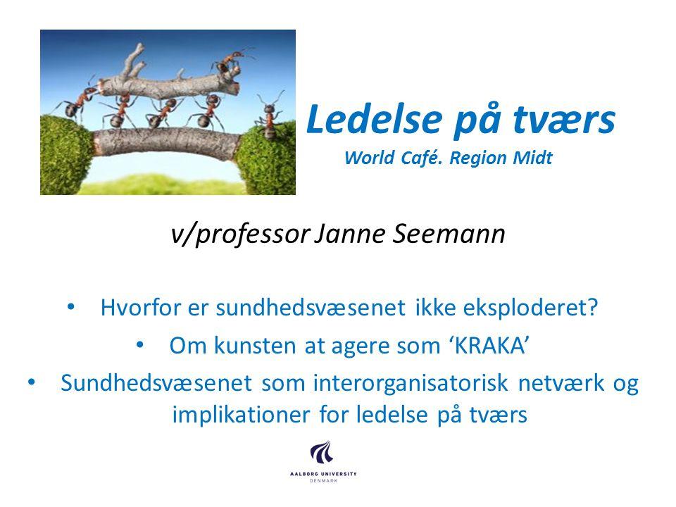 Ledelse på tværs World Café. Region Midt v/professor Janne Seemann