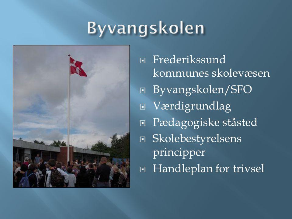 Byvangskolen Frederikssund kommunes skolevæsen Byvangskolen/SFO