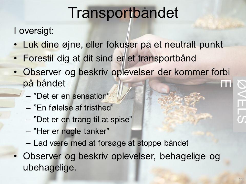 Transportbåndet ØVELSE I oversigt: