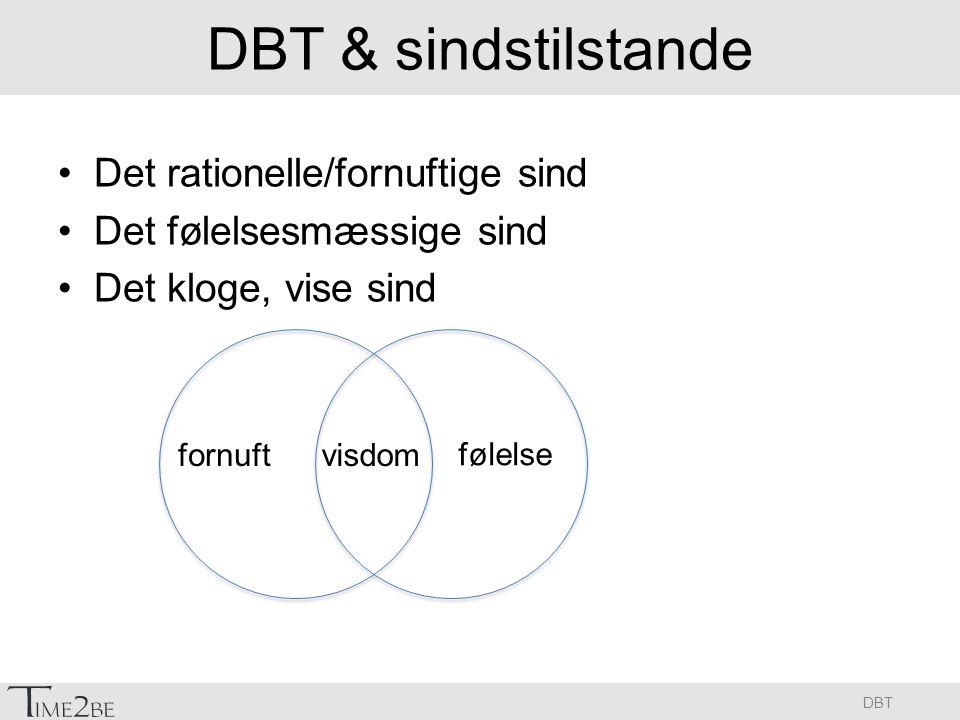 DBT & sindstilstande Det rationelle/fornuftige sind