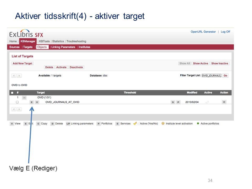 Aktiver tidsskrift(4) - aktiver target