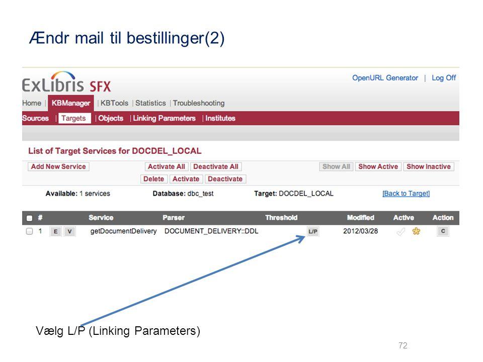 Ændr mail til bestillinger(2)