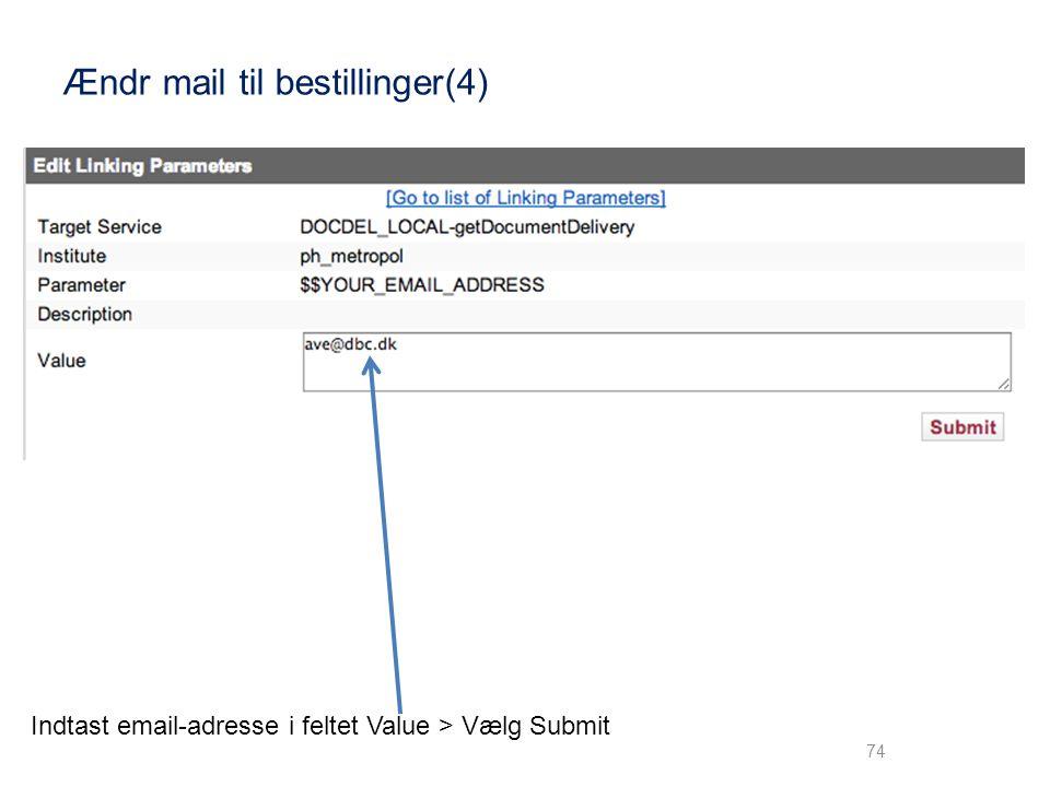 Ændr mail til bestillinger(4)