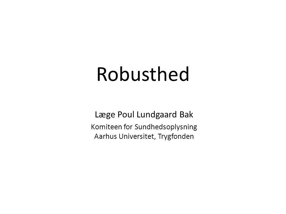 Robusthed Læge Poul Lundgaard Bak