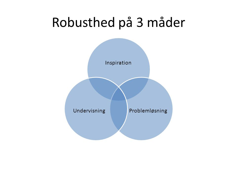 Robusthed på 3 måder Inspiration Problemløsning Undervisning
