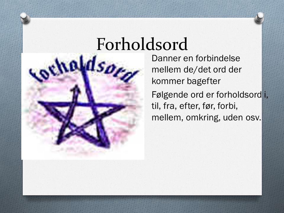 Forholdsord