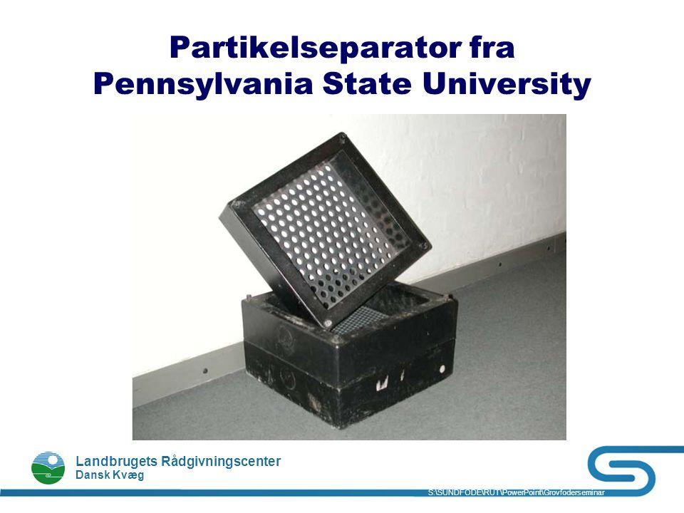 Partikelseparator fra Pennsylvania State University