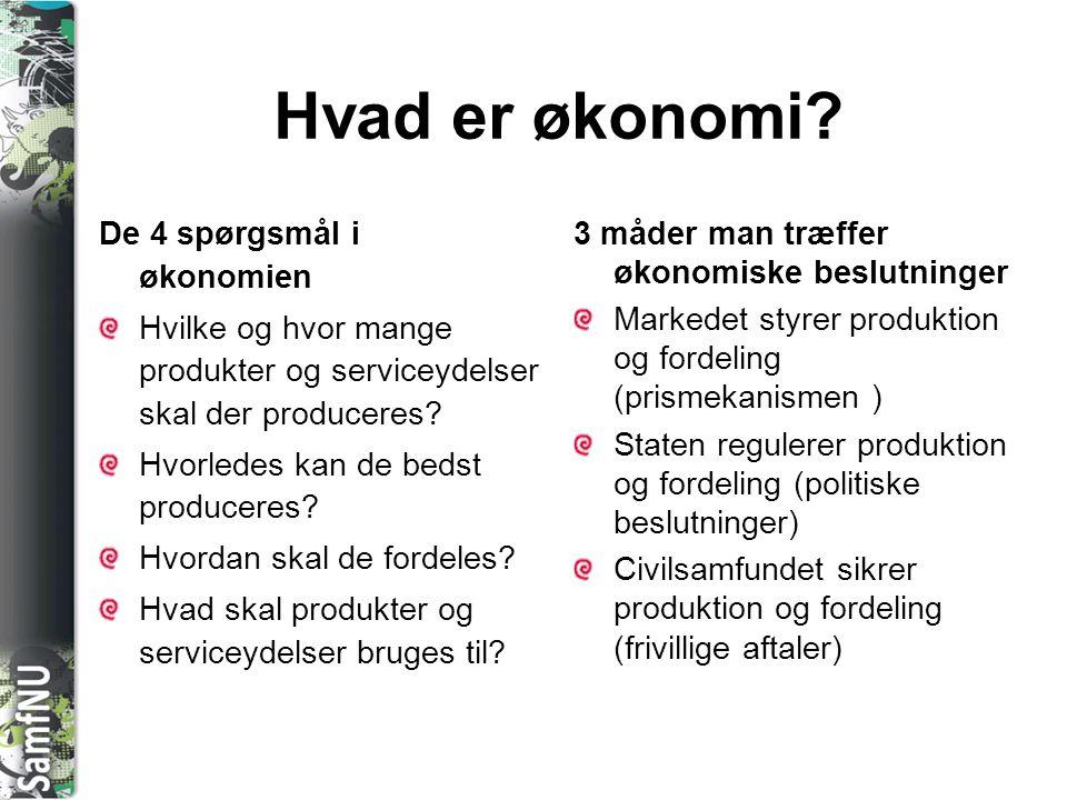 Hvad er økonomi De 4 spørgsmål i økonomien
