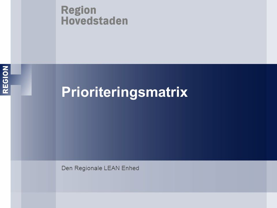 Den Regionale LEAN Enhed