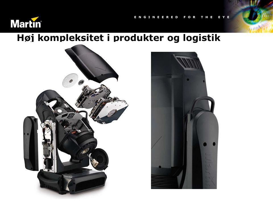 Høj kompleksitet i produkter og logistik