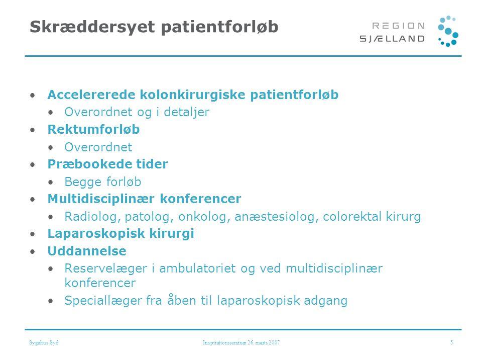 Skræddersyet patientforløb