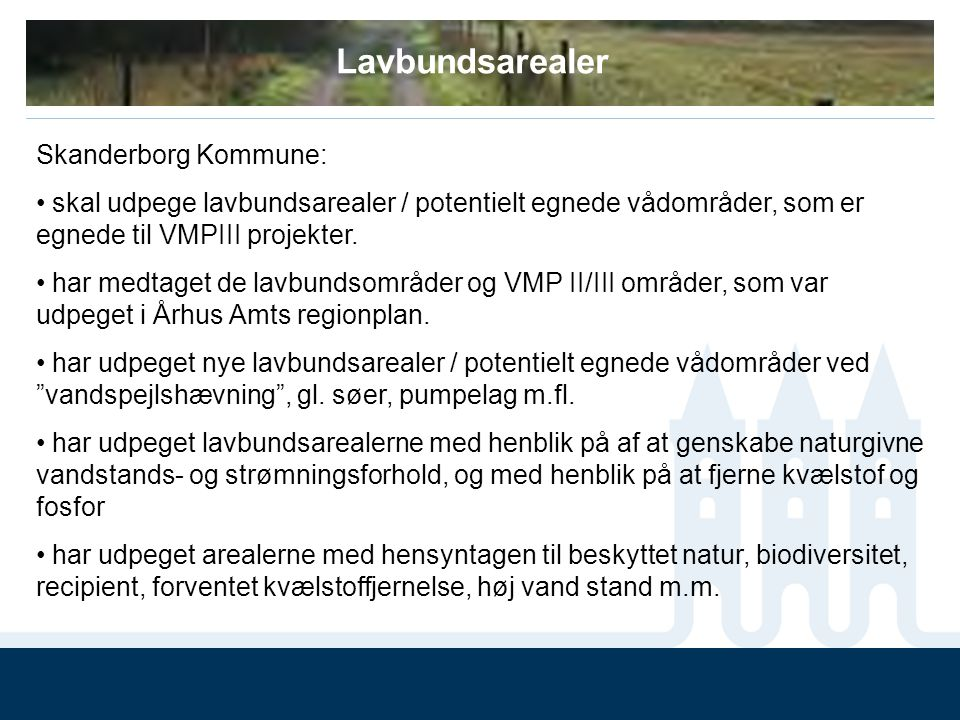 Lavbundsarealer Skanderborg Kommune: