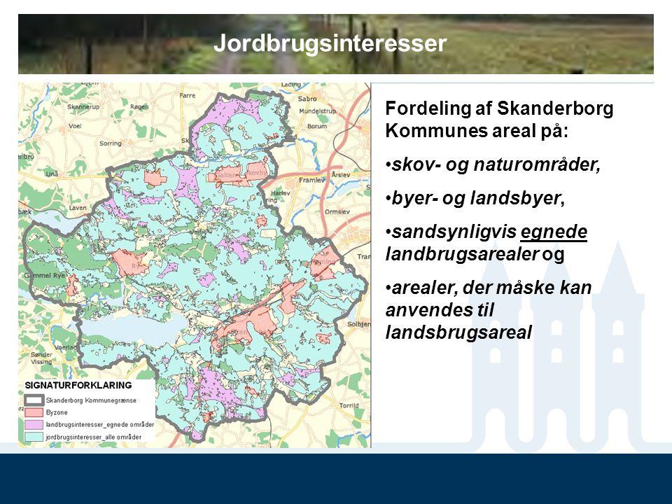 Jordbrugsinteresser Fordeling af Skanderborg Kommunes areal på: