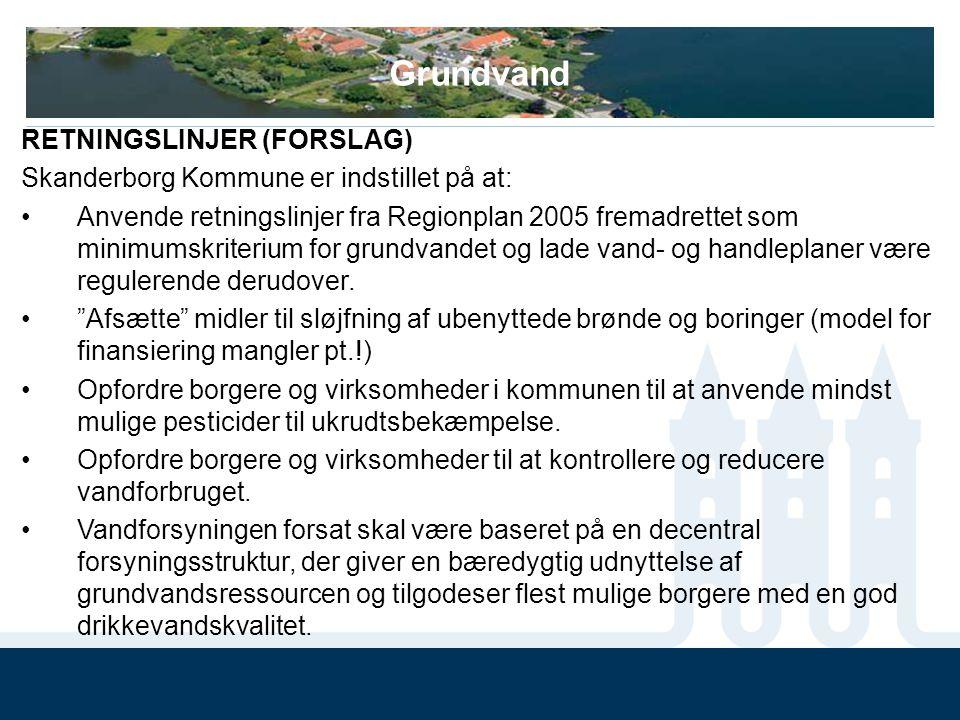 Grundvand RETNINGSLINJER (FORSLAG)