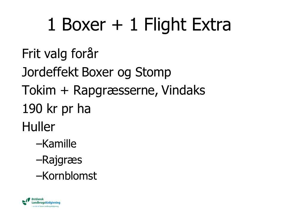 1 Boxer + 1 Flight Extra Frit valg forår Jordeffekt Boxer og Stomp