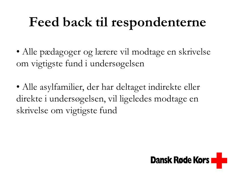 Feed back til respondenterne