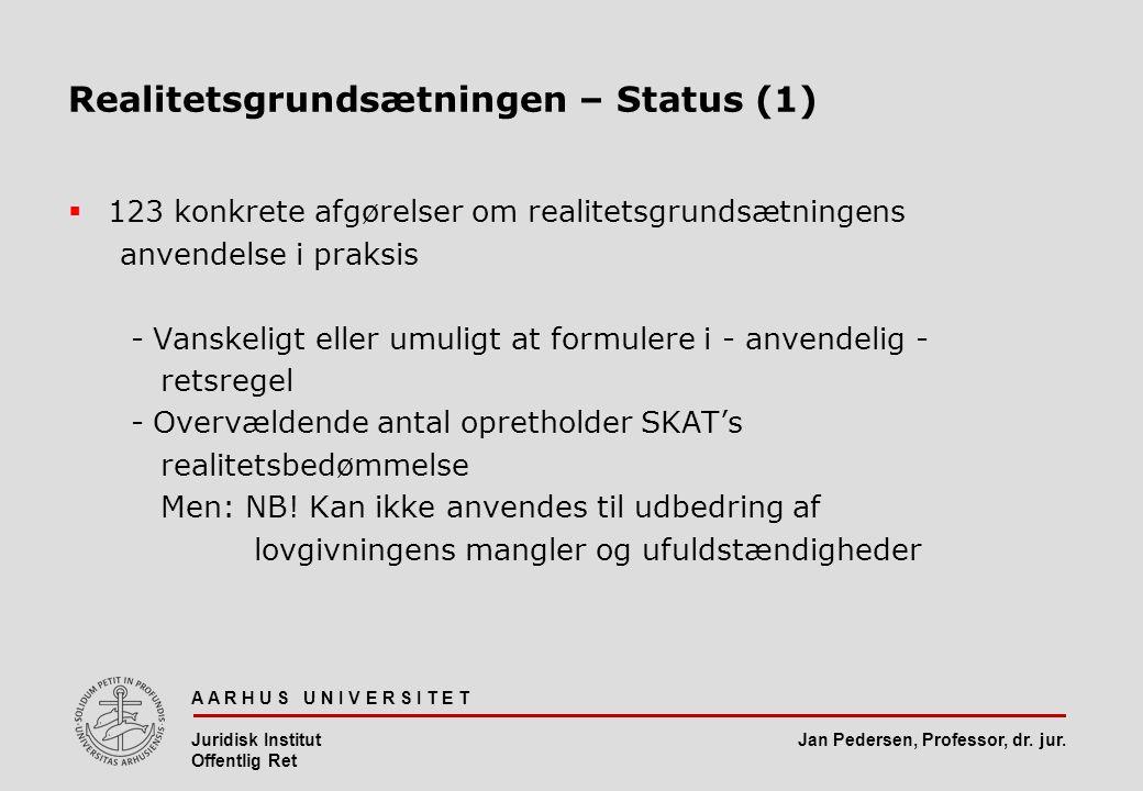 Realitetsgrundsætningen – Status (1)