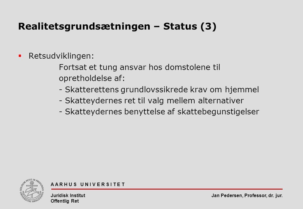 Realitetsgrundsætningen – Status (3)